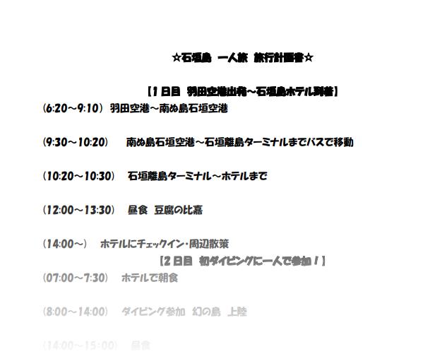 石垣島 観光計画書