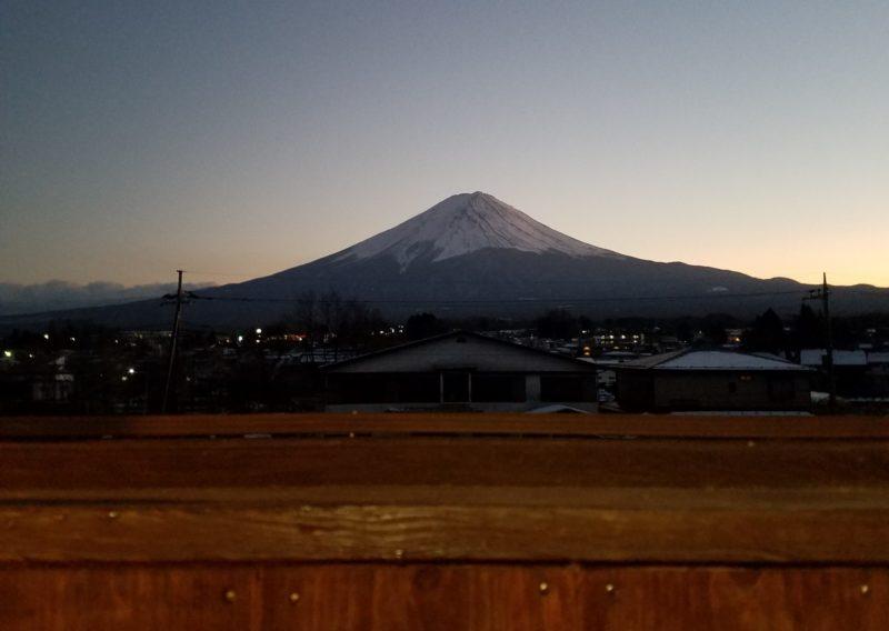 レイクハイランドホテル みづのさと(客室露天風呂からの富士山)