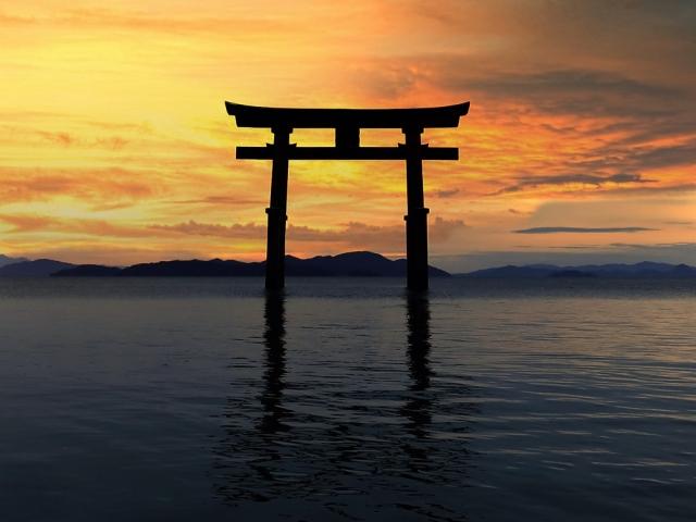 滋賀県琵琶湖白髭神社