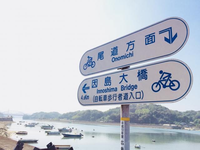 しまなみ海道自転車標識